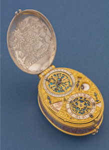 David Ramsay Astronomical Silver and Gilt Oval Watch, c 1619